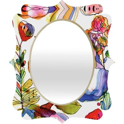 DENY Designs CayenaBlanca Blossom Pastel Quatrefoil Mirror