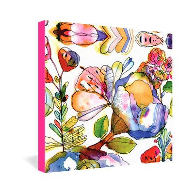DENY Designs CayenaBlanca Blossom Pastel Gallery Wrapped Canvas