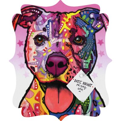Dean Russo Cherish The Pitbull Quatrefoil Magnet Board