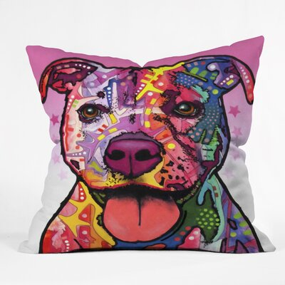 DENY Designs Dean Russo Cherish The Pitbull Throw Pillow