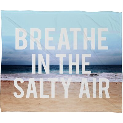DENY Designs Leah Flores Breathe Polyesterrr Fleece Throw Blanket