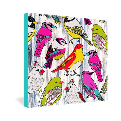 DENY Designs Couture Home Birds by Mary Beth Freet Painting Print on Canvas