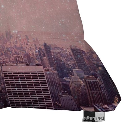 DENY Designs Bianca Green Stardust Covering New York Throw Pillow