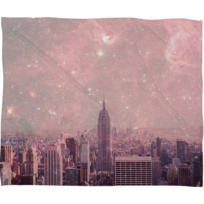 DENY Designs Bianca Green Stardust Covering New York Polyesterrr Fleece Throw Blanket