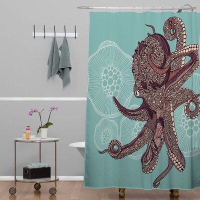 DENY Designs Valentina Ramos Polyester Octopus Bloom Shower Curtain