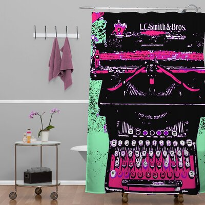 DENY Designs Romi Vega Polyester Antique Typewriter Shower Curtain
