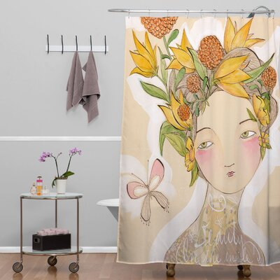DENY Designs Cori Dantini Woven Polyester Beauty On The Inside Shower Curtain