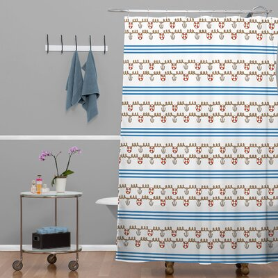 DENY Designs Jennifer Denty Woven Polyester Anchor Small Shower Curtain