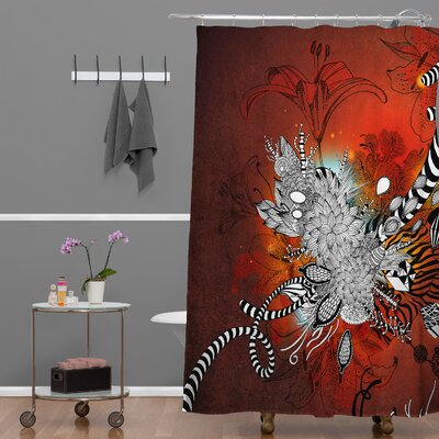 DENY Designs Iveta Abolina Polyester Wild Lilly Shower Curtain