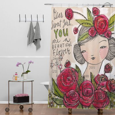 DENY Designs Cori Dantini Woven Polyester Dear Sweet Girl Shower Curtain