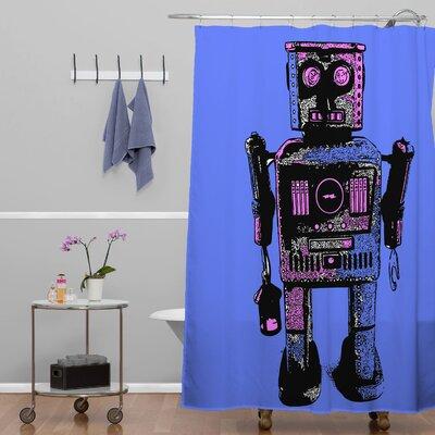 DENY Designs Romi Vega Polyester Lantern Robot Shower Curtain