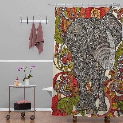 DENY Designs Valentina Ramos Polyester Bo The Elephant Shower Curtain