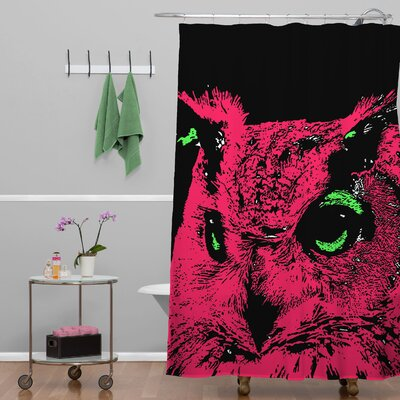 DENY Designs Romi Vega Polyester Owl Shower Curtain