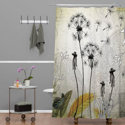 DENY Designs Iveta Abolina Polyester Little Dandelion Shower Curtain