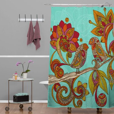 DENY Designs Valentina Ramos Polyester Hello Birds Shower Curtain