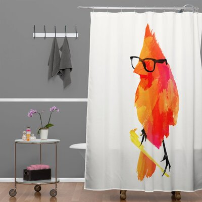 DENY Designs Robert Farkas Punk Bird Woven Polyester Shower Curtain