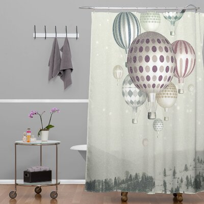 DENY Designs Belle13 Winter Dreamflight Polyester Shower Curtain