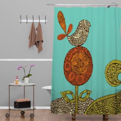 DENY Designs Valentina Ramos Polyester Bird in The Flower Shower Curtain