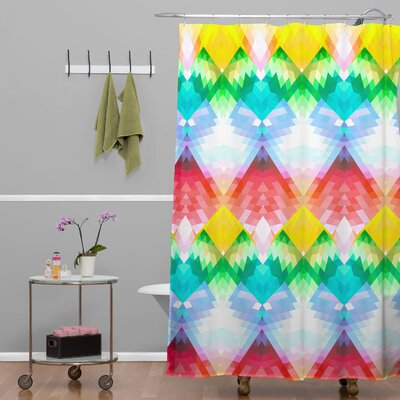 DENY Designs Deniz Ercelebi Woven Polyester Crystal Rainbow Shower Curtain