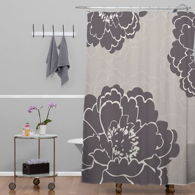 DENY Designs Caroline Okun Winter Peony Polyester Shower Curtain