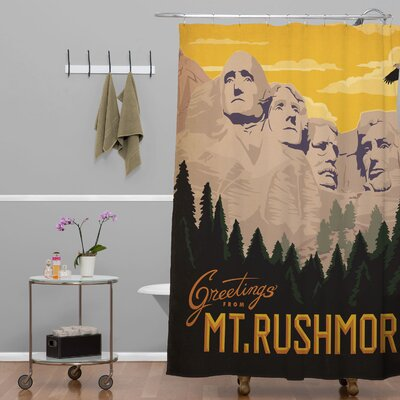 DENY Designs Anderson Design Group Woven Polyester Mount Rushmore Shower Curtain