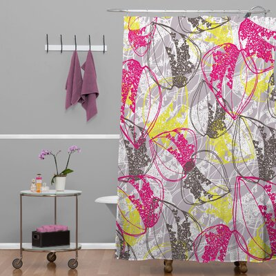 DENY Designs Rachael Taylor Polyester Organic Retro Leaves Shower Curtain