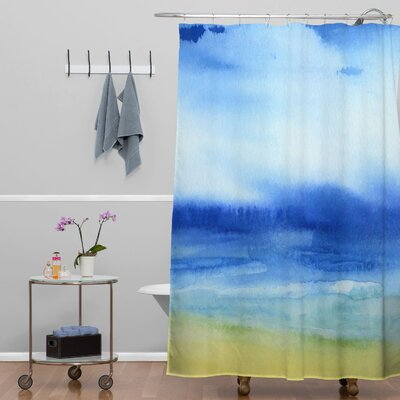 DENY Designs Jacqueline Maldonado Woven Polyester Sea Church Shower Curtain