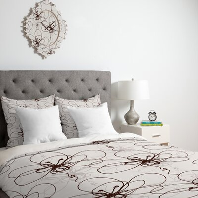 DENY Designs Rachael Taylor Tonal Floral Duvet Cover Collection