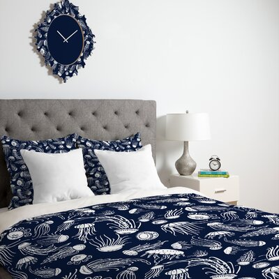 DENY Designs Jennifer Denty Jellyfish Duvet Cover