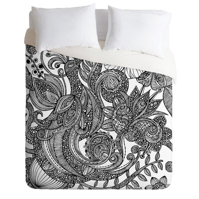 DENY Designs Valentina Ramos Bird in Flowers Black White Duvet Cover Collection