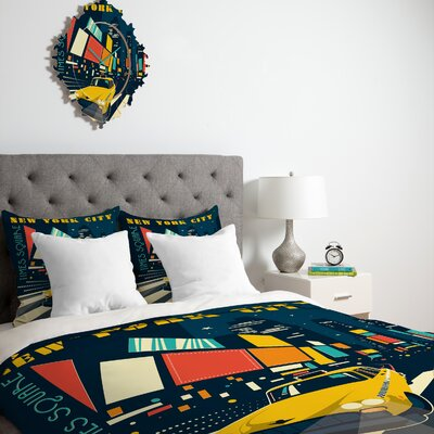 DENY Designs Anderson Design Group NYC Times Square Duvet Cover Collection