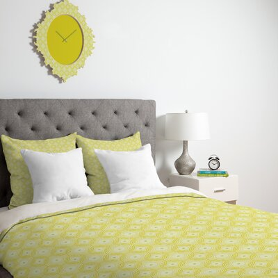 DENY Designs Caroline Okun Yellow Spirals Duvet Cover Collection