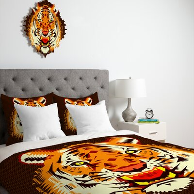 DENY Designs Chobopop Geometric Tiger Duvet Cover Collection