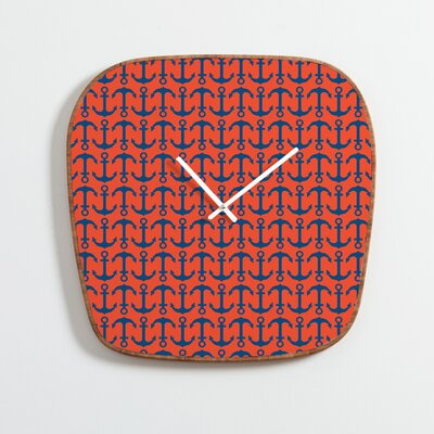 DENY Designs Andrea Victoria Ahoy Anchors Wall Clock
