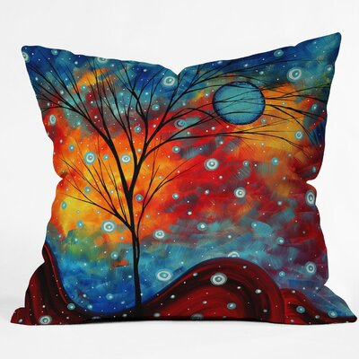 DENY Designs Madart Inc. Summer Snow Woven Polyester Throw Pillow
