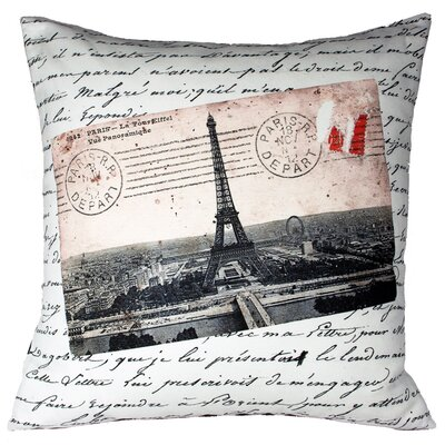 Uptown Artworks French Vintage Eiffel Tower Pillow
