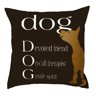 Uptown Artworks Dog Therapist Pillow