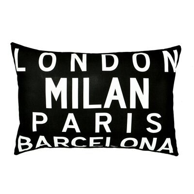 Uptown Artworks Cities of Europe Pillow