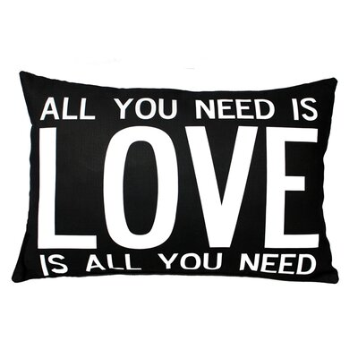 Uptown Artworks Love is All You Need Pillow