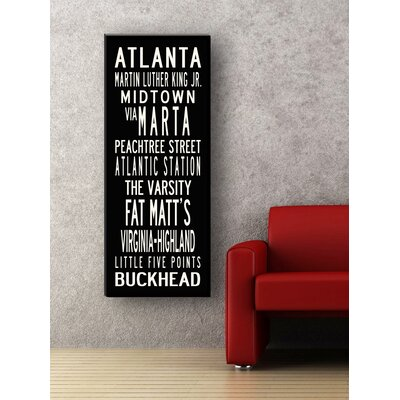 Uptown Artworks Atlanta Textual Art on Canvas