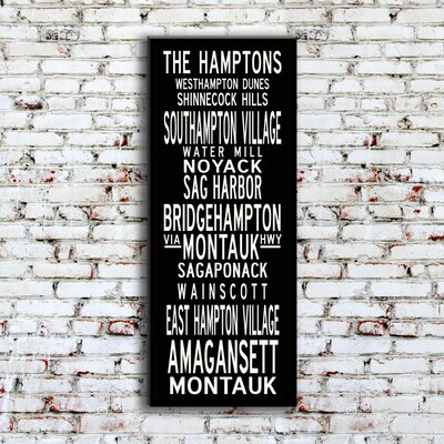 Uptown Artworks Hamptons Textual Art on Canvas