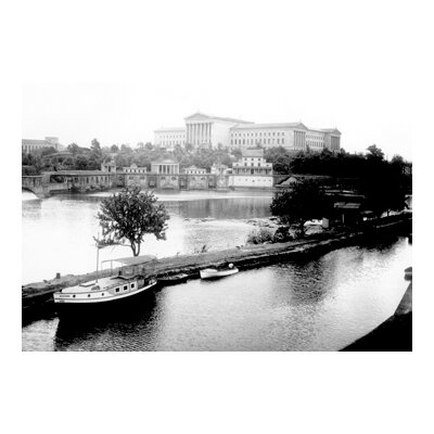 Buyenlarge Dock on The River by The Art Museum, Philadelphia, PA Canvas Art