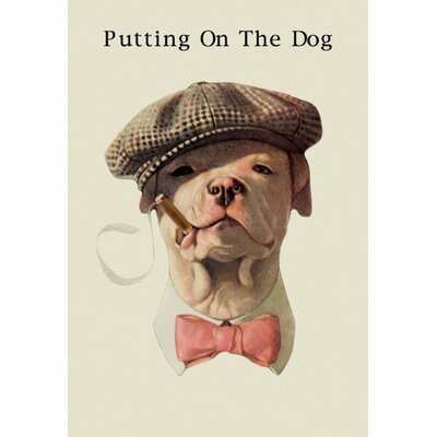 Sale alerts for Buyenlarge  Dog in Hat and Bow Tie Smoking a Cigar Graphic Art on Canvas - Covvet