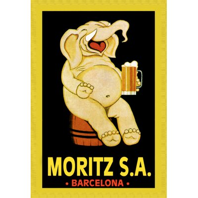 Moritz S.A. Vintage Advertisement on Canvas
