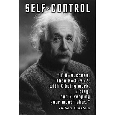 Buyenlarge Self-Control Canvas Art