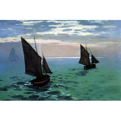 Buyenlarge Le Havre Exit the Fishing Boats from the Port Canvas Art