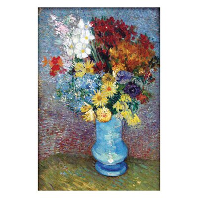 Buyenlarge Flowers in a Blue Vase by Van Gogh Canvas Art
