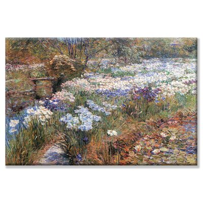 Buyenlarge Water Garden Painting Print on Canvas