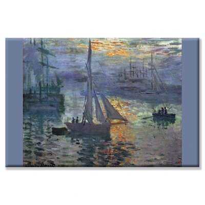 Buyenlarge Sunrise at Sea Canvas Wall Art