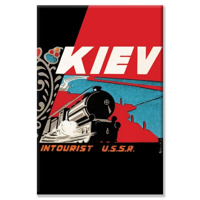 Buyenlarge Kiev - Intourist U.S.S.R. Vintage Advertisement on Canvas